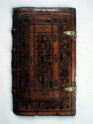 MUO-003777: Korice knjige: fragment korica za knjigu