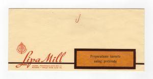 MUO-008307/26: Lipa Mill tvornica kuverata i konfekcija papira d.d.: poštanska omotnica