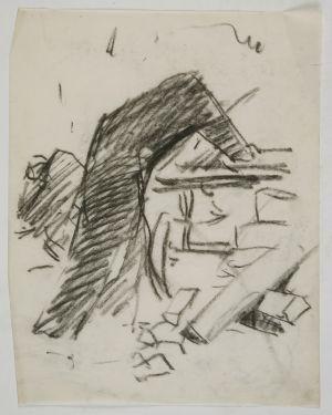 MUO-049901: Skica figure s leđa: crtež