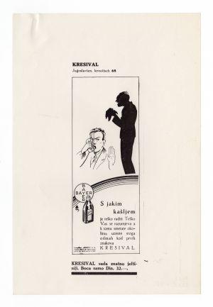 MUO-008302/75: KRESIVAL  S jakim kašljem: novinski oglas
