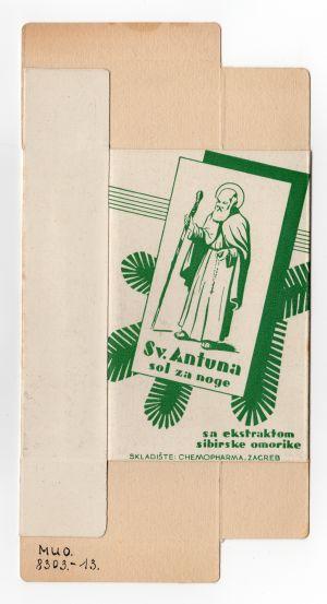 MUO-008303/13: Sol za noge Sv. Antuna: kutija