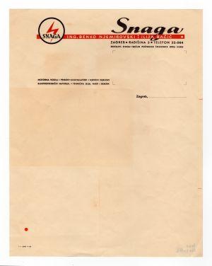 MUO-008307/58: SNAGA: listovni papir