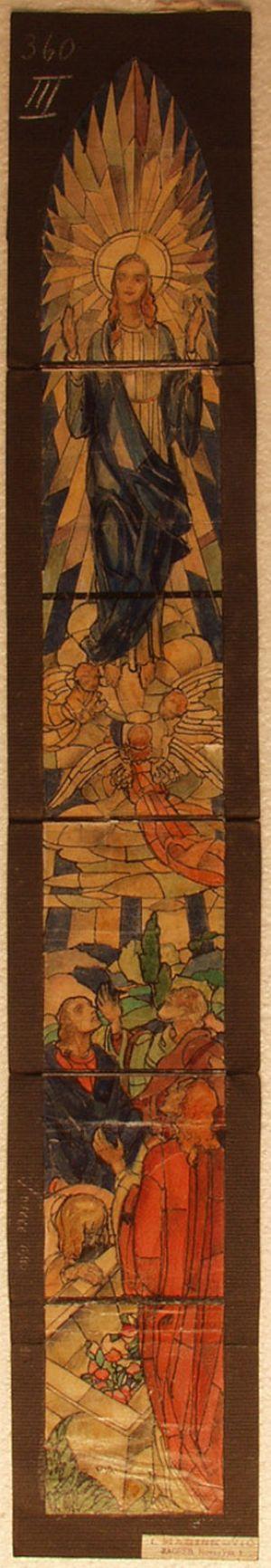 MUO-031488: Uznesenje Bogorodice: skica za vitraj