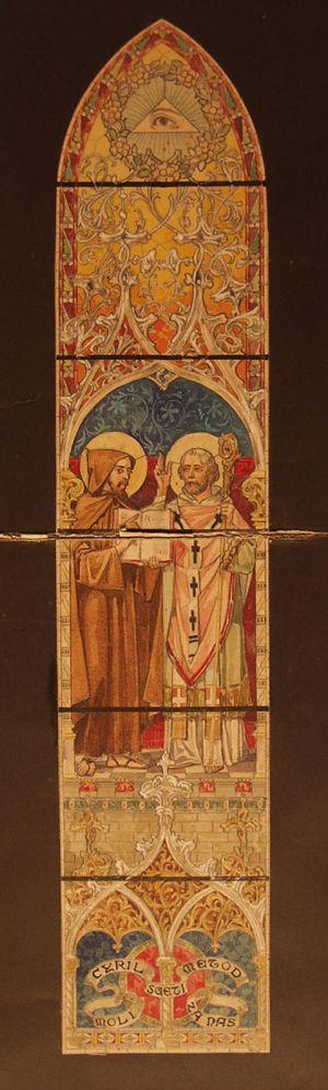 MUO-029407: Sv. Ćiril i Metod: skica za vitraj