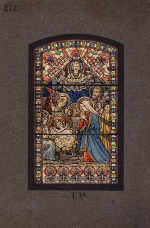 MUO-034611: Rođenje Isusa: skica za vitraj