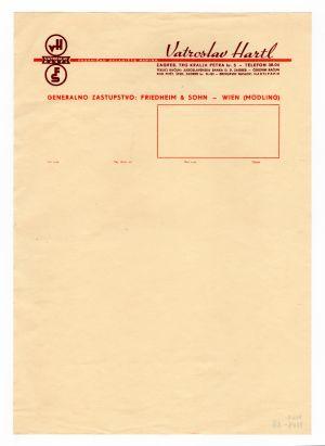 MUO-008307/27: Vatroslav Hartl: listovni papir