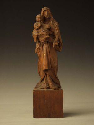 MUO-028357: SV. MARIJA S MALIM ISUSOM: statueta