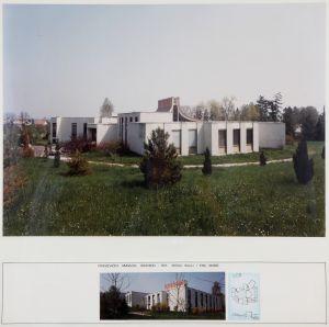 MUO-017584/57: Zgrade franjevačke gimnazije Samobor: pano