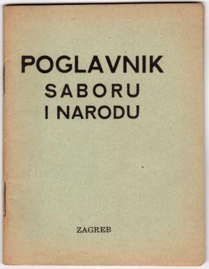 MUO-021050: POGLAVNIK SABORU I NARODU: brošura
