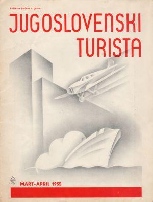 MUO-008308/25: JUGOSLOVENSKI TURISTA: korice za časopis