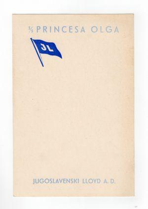 MUO-008305/16: s.s. Princesa Olga: jelovnik