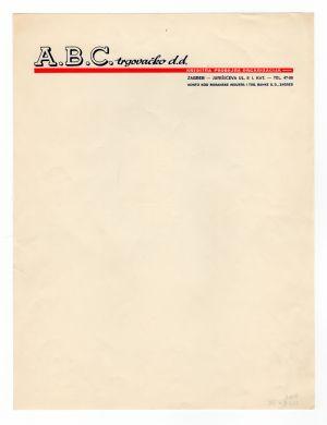 MUO-008307/15: A.B.C. trgovačko d.d.: listovni papir