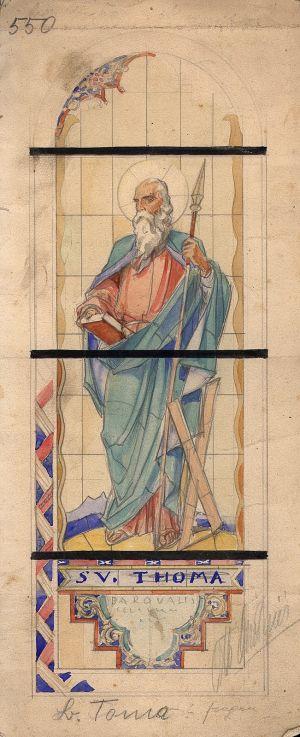 MUO-031484: Sv. Toma: skica za vitraj