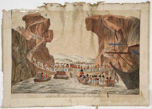 MUO-005306: Dolazak Napoleona Bonapartea na  sv. Helenu: grafika