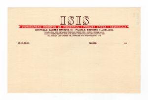 MUO-008307/56: ISIS dioničarsko društvo za industriju i promet droga i kemikalija: listovni papir