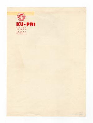 MUO-008307/38: KU-PRI kućni pribor: listovni papir