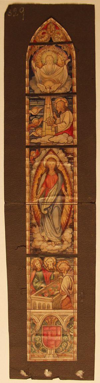 MUO-031489: Uznesenje Bogorodice: skica za vitraj