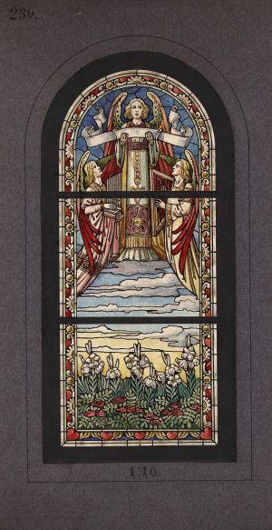 MUO-031519: Anđeli - Vrabće: skica za vitraj