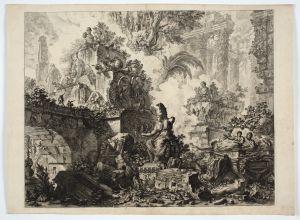 MUO-051050: Capriccio di rovine con statua di Minerva: grafika