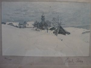 MUO-025348: Zimski pejzaž: grafika