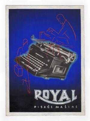 MUO-008301/05: ROYAL pisaće mašine: predložak