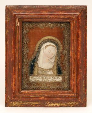 MUO-004618: Madona s nagnutom glavom: posvetna slika