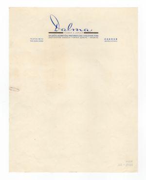 MUO-008307/22: Dalma: listovni papir