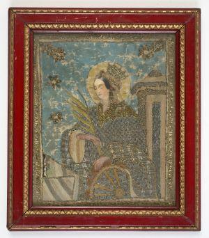 MUO-004649: Sv. Katarina Aleksandrijska: posvetna slika