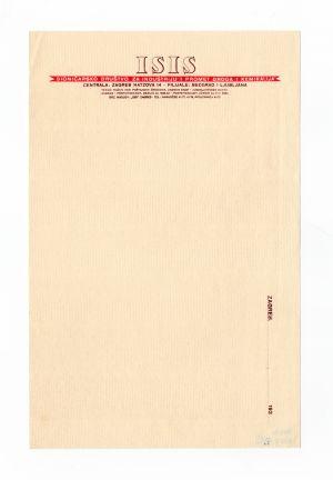 MUO-008307/55: ISIS dioničarsko društvo za industriju i promet droga i kemikalija: listovni papir