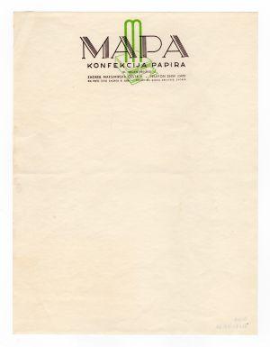 MUO-008307/32: MAPA konfekcija papira: listovni papir