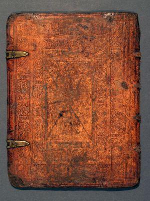 MUO-003766: Korice knjige: korice za knjigu - fragment