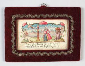 MUO-008634: Dama u krinolini: minijatura