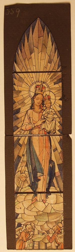 MUO-031487: Bogorodica s Isusom: skica za vitraj
