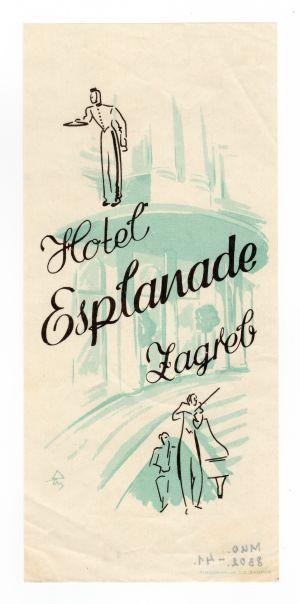 MUO-008302/41: Hotel ESPLANADE Zagreb: letak