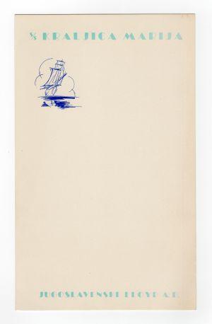 MUO-008305/13: s/s Kraljica Marija: jelovnik