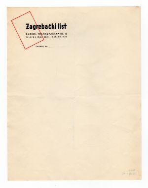 MUO-008307/12: Zagrebački list: listovni papir