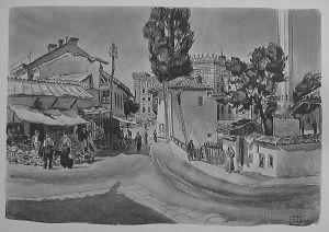 MUO-029894/03: Sarajevo: Ulica pred vjećnicom: grafika