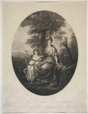 MUO-025117: Lady Roshout i kćer: grafika