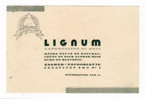 MUO-008307/47: Lignum Zagreb: poslovna karta