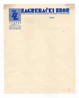 MUO-008307/19: ZZ ZAGREBAČKI ZBOR: listovni papir