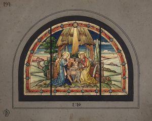 MUO-029404: Rođenje Isusa: skica za vitraj
