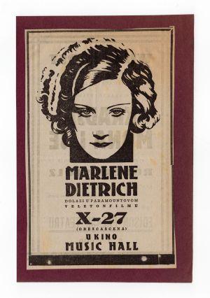 MUO-008302/07: Marlene Dietrich X-27: novinski oglas