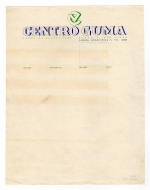 MUO-008307/61: CENTRO GUMA trgovina gumene robe: listovni papir