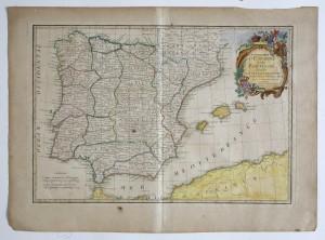 MUO-016250: Karta kraljevstva Španjolske i Portugala s pokrajinama: grafika