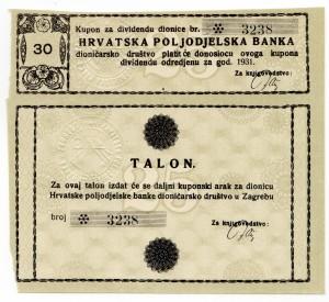 MUO-023267/02: Hrvatska poljodjelska banka: kupon