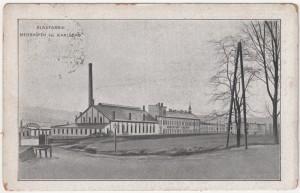 MUO-008745/168: Karlove Vary - Karlsbad; tvornica stakla: razglednica
