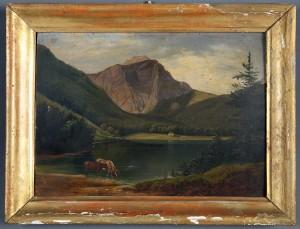 MUO-000025: Pogled na jezero Ebensee: slika
