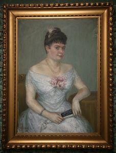 ZAG-0078: Ženski portret (Anke Gvozdanović): slika