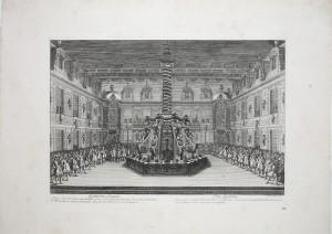 MUO-055701/04: Četvrti dan. Gozba u mramornom dvorištu dvorca Versailles: grafika