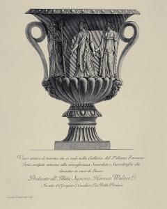 MUO-057436/23: Vaso antico di marmo che si vede nella Galleria del Palazzo Farnese: grafika
